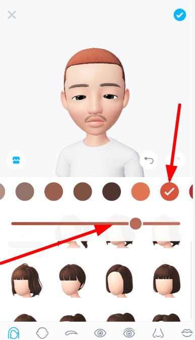 崽崽如何换头发颜色_人物头发颜色变换教程
