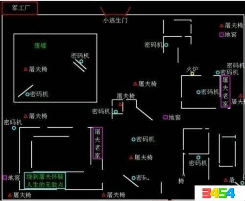 第五人格军工厂地图一览