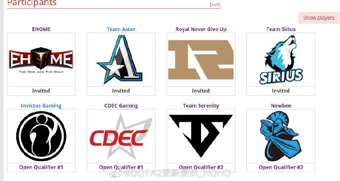 dota2:TI9各大赛区预选赛战况